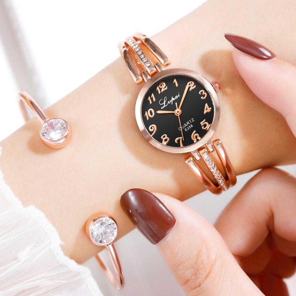 Lvpai Brand New Fashion Rhinestone Watches Women Luxury Bracelet Watches Ladies Quartz Dress Watches Reloj Mujer Dropshipping