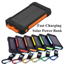 Solar Power Bank 30000mah Waterproof for All Powerbank Fast