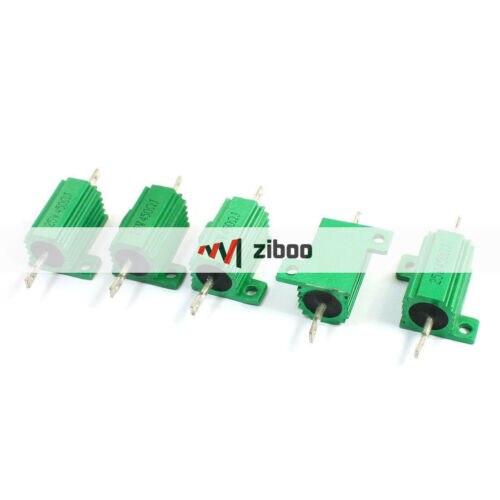 5 шт. 450 Ом 25 Вт проволочный радиатор с алюминиевым покрытием, резисторы зеленого цвета 63x28x15 мм