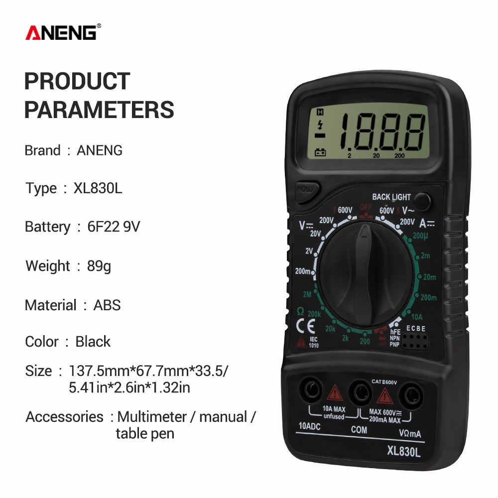 Aneng XL830L デジタルマルチメータ esr 計テスター自動車電気 dmm トランジスタピークテスター計容量計