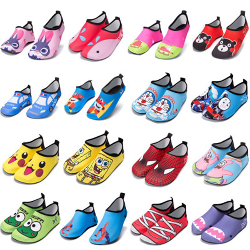 Summer Cartoon Toddler Children Beach Shoes Barefoot Soft Sole Quick-Dry Non-Slip Breathable Kids Water Shoes Swim Wholesale