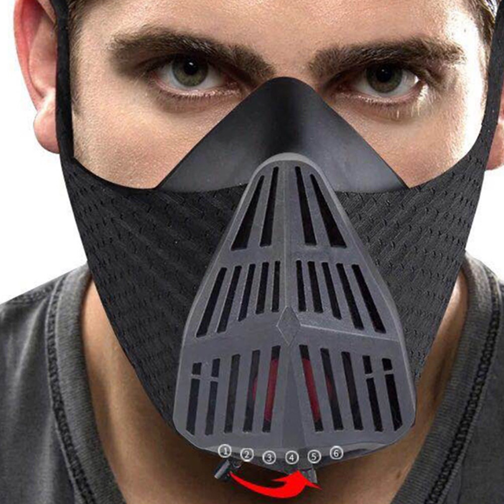 1Pc Training Mask Sports Running Mask Utility Silicone Black Sports Mask For Sports Running