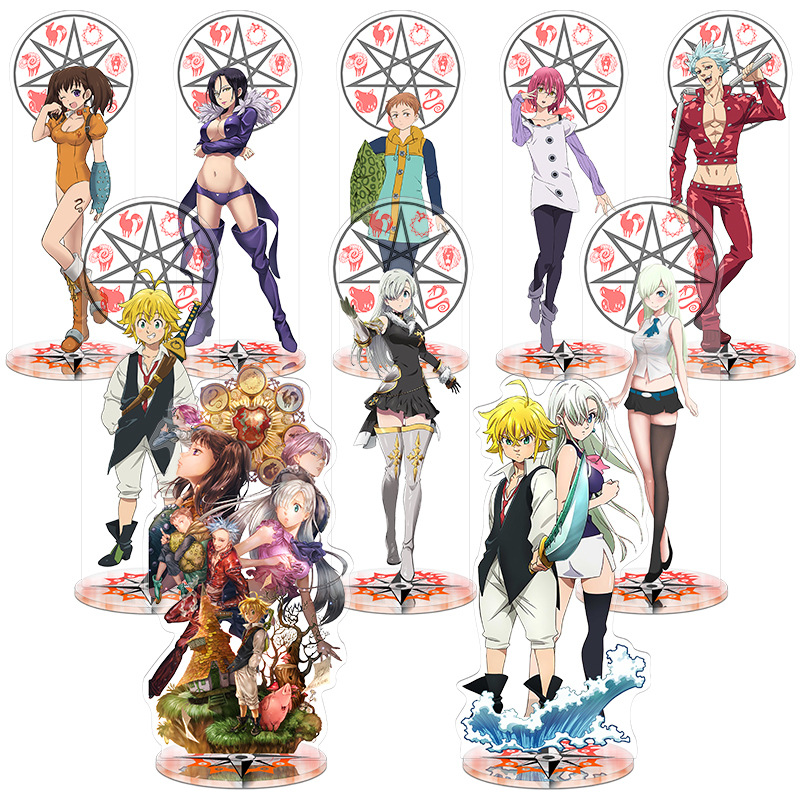 The Seven Deadly Sins Toy Height 21cm Anime Action Figure Toy Acrylic Decorative Ornaments Creative Gift
