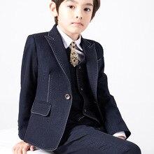 Formal Children's Suit Flower Boy Wedding Party Performance Costume Kids Blazer Vest Pants Boys' Attire Clothes Set