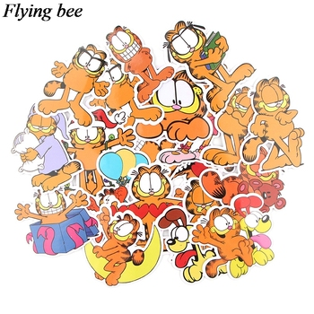 Flyingbee 20 pcs Funny Cat Sticker PVC Scrapbooking stickers for Luggage Laptop sticker Phone Decals DIY Stickers Gift X0616 46 pcs set the office funny stickers waterproof stickers for suitcase luggage laptop diy sticker pvc skateboard sticker g0172
