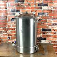 Pot 55L, chaudière, cuve, fermenteur avec couvercle cloche Distillation, Rectification, sanitaire acier 304