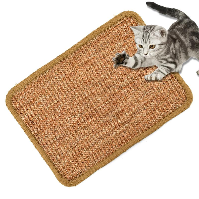 Sisal <font><b>Cat</b></font> Scratcher Board Scratching Post Mat Toy For Catnip <font><b>Tower</b></font> Climbing <font><b>Tree</b></font> Pad Cooling Litter Mat Lounger <font><b>Pet</b></font> image