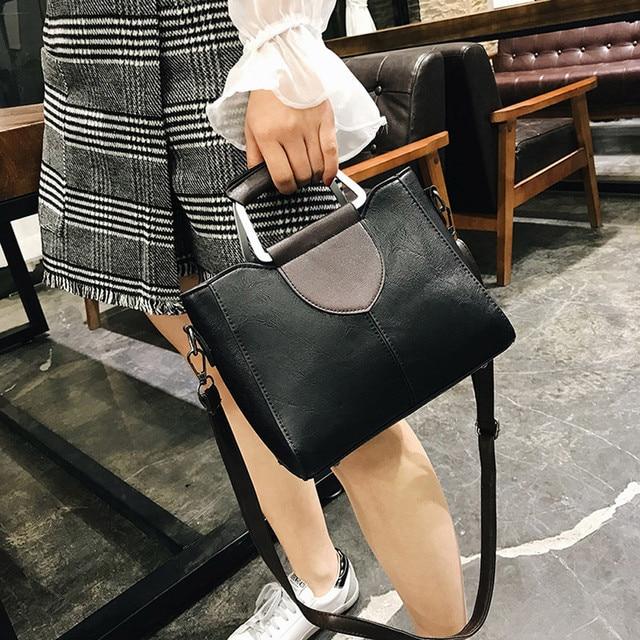 Women's Fashion Solid Color Leather Shoulder Bags With Corssbody Bag Handbag Ladies Outdoor Multifunction Messenger Bag Handbags 2