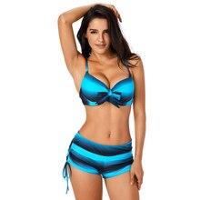 Gradient Knotted String Bikini Women Swimsuit Spaghetti Straps Trajes De Bano Swimwear Lcae Up Bathing Suit Sexy Biquinis Mayo стоимость