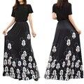 Повседневная модная новая юбка с мультяшным принтом Диснея Микки Мауса, Женская длинная эластичная юбка с высокой талией высокого качества