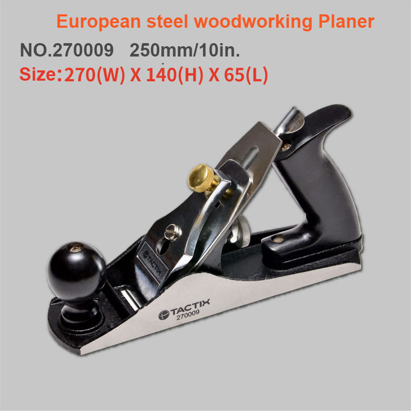 250mm  European Carbon Steel Big Hand Wood Planer Easy Operated T10 Alloy Steel Blade Diy Woodworking Tool