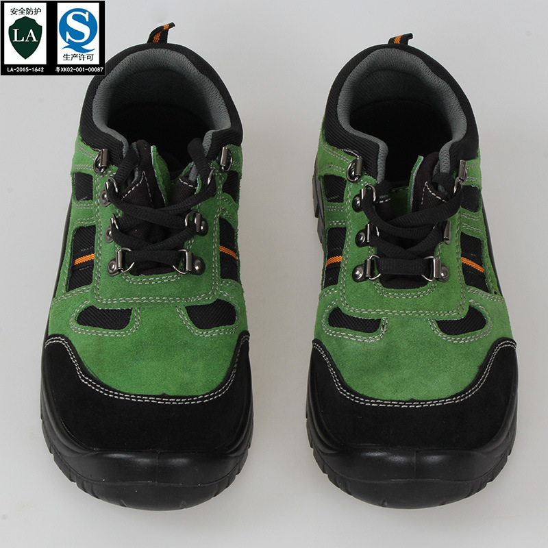 Factory Direct Supply Summer Suede Leather Breathable Mountain Climbing Safety Shoes Anti-slip Anti-smashing And Anti-penetratio