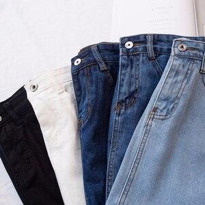 Image 5 - Lucyever Fashion Korean Spring Summer Women Denim Skirt High Waist Mini Skirts Jeans Plus Size Harajuku Cotton Girls Black Skirt