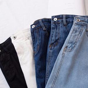 Image 5 - Lucyever 패션 한국어 summer women denim skirt (high) 저 (허리 black mini skirts smd, smt) 패키지 힙 blue jeans 하라주쿠 plus size 면
