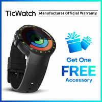 TicWatch S черные Смарт-часы Bluetooth Smartwatch с gps Android и iOS совместимый Google Wear OS IP67 Водонепроницаемый оригинал