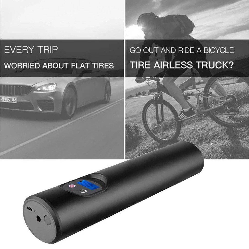 12V Wireless Inflatable Pump For Car Bicycle Outdoor Driving Ridding Accessories Portable Car Air Pumps Electric Tire Inflator#|Bicycle Pumps| |  - title=