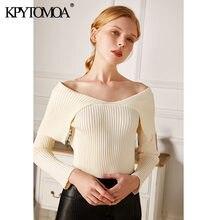 Женский трикотажный свитер kpytomoa модный винтажный пуловер