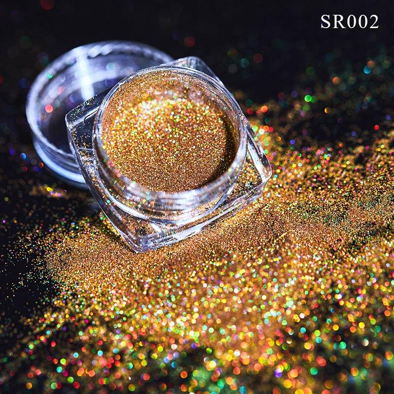 Волшебное зеркало блеск для ногтей Dip порошок Сияющий хром пигмент пыль голографическое искусство ногтей Маникюр УФ пудра для ногтей гель лак - Цвет: VQ01703
