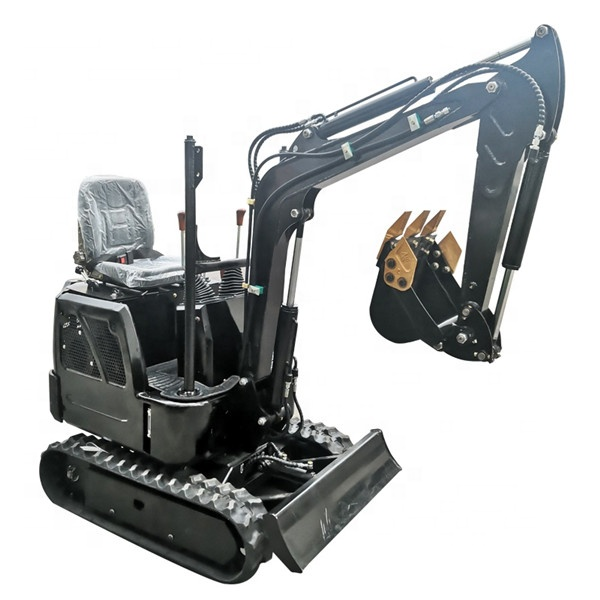Mini Excavator 1ton Micro Small Digger With Rubber Track For Sale Garden Construction Machine