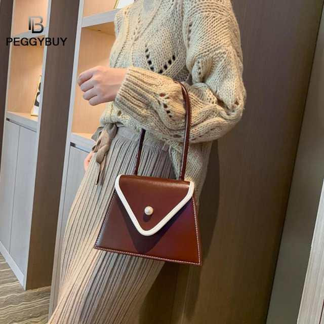 Fashion Women Shoulder Handbags PU Leather Retro Casual Top-handle Bag Tote