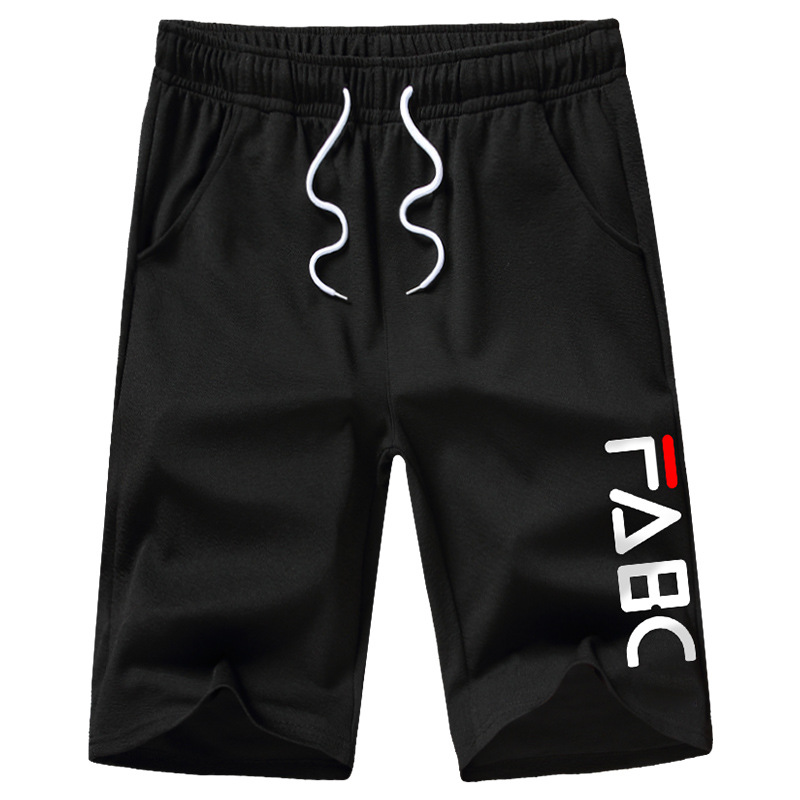 Drawstring MenShorts Casual Beach new Summer Elastic Waist pants Men Plus Size Loose Letter Printed MaleSportswear Fitness Pants