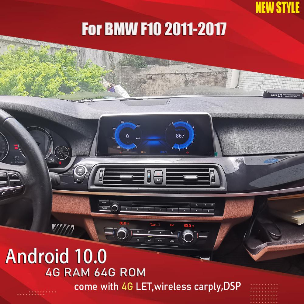 Aucar NEW STYLE <font><b>Android</b></font> 10 car multimedia for <font><b>BMW</b></font> <font><b>F10</b></font> 5 Series 2011-2017 CIC CCC NBT 8 core <font><b>Android</b></font> 10.25'' car radio 4G LET DSP image