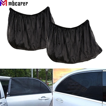 2Pcs Car Sun Shade UV Protection for Baby Car Side Rear Sunshade Front Window Sunshade Mesh Sun Visor Summer Window Film image
