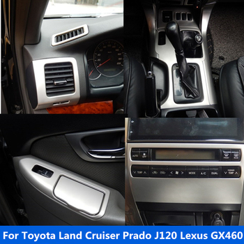 Accessories for Toyota Land Cruiser Prado J120 Lexus GX460 Interior Stainless Steel Decoration Trim image