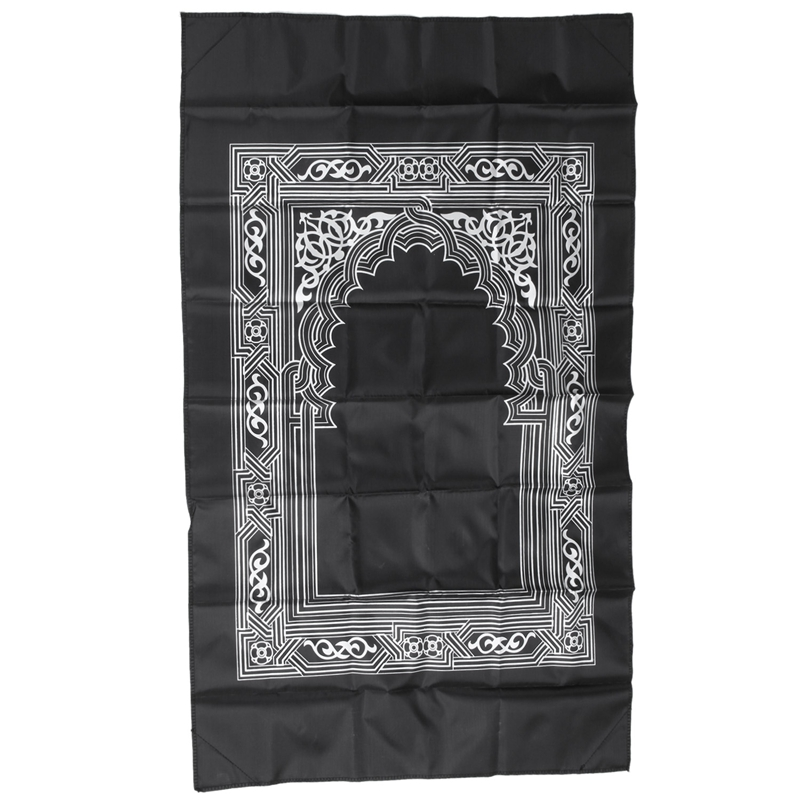 Image 4 - Ramadan Islamic And Muslim Travel Prayer Mats,Compass Pocket Size Tote Bags BlackCarpet