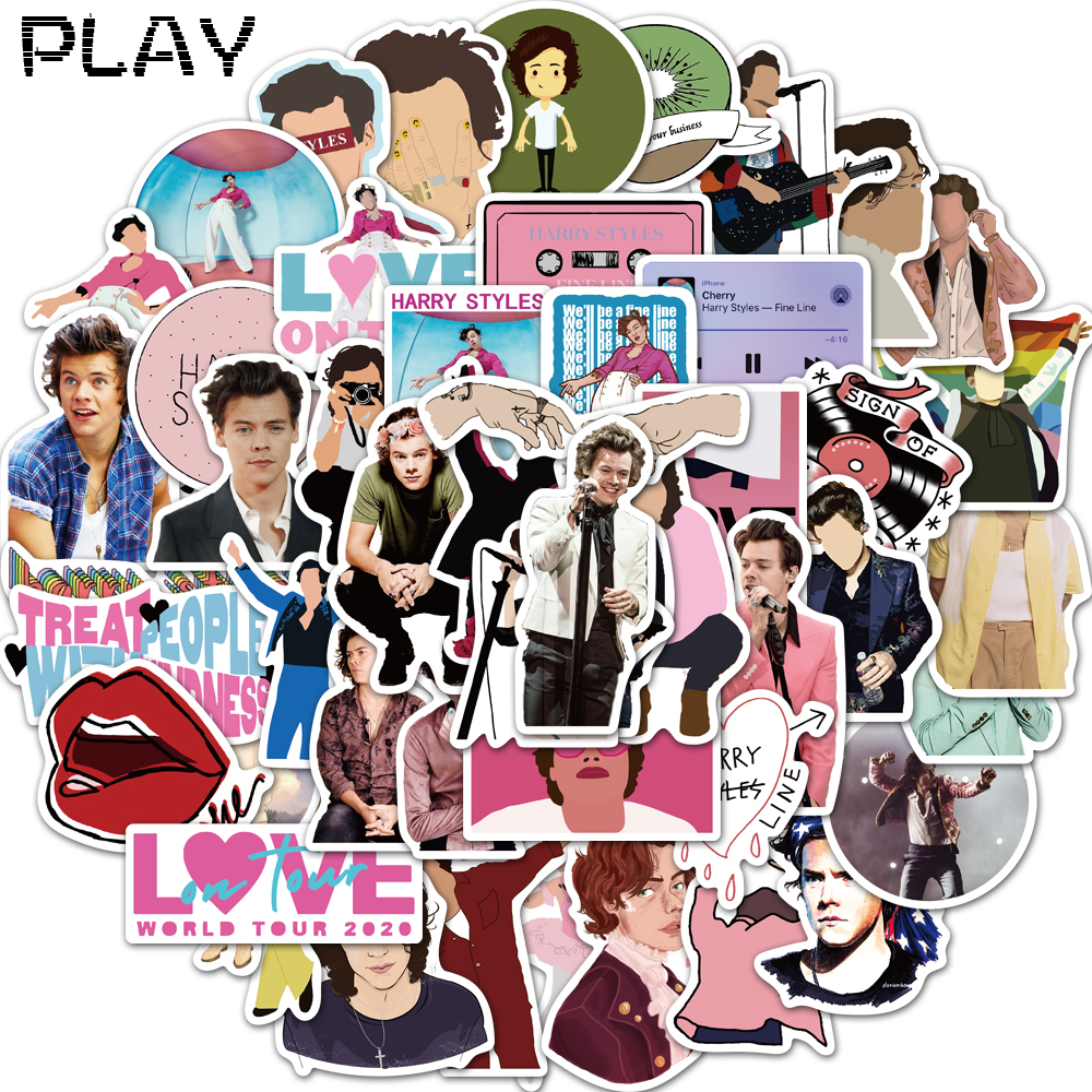50pcs Singer Harry Styles Sticker Waterproof For DIY Laptop Luggage Refrigerator Skateboard Decor Toy Graffiti Sticker