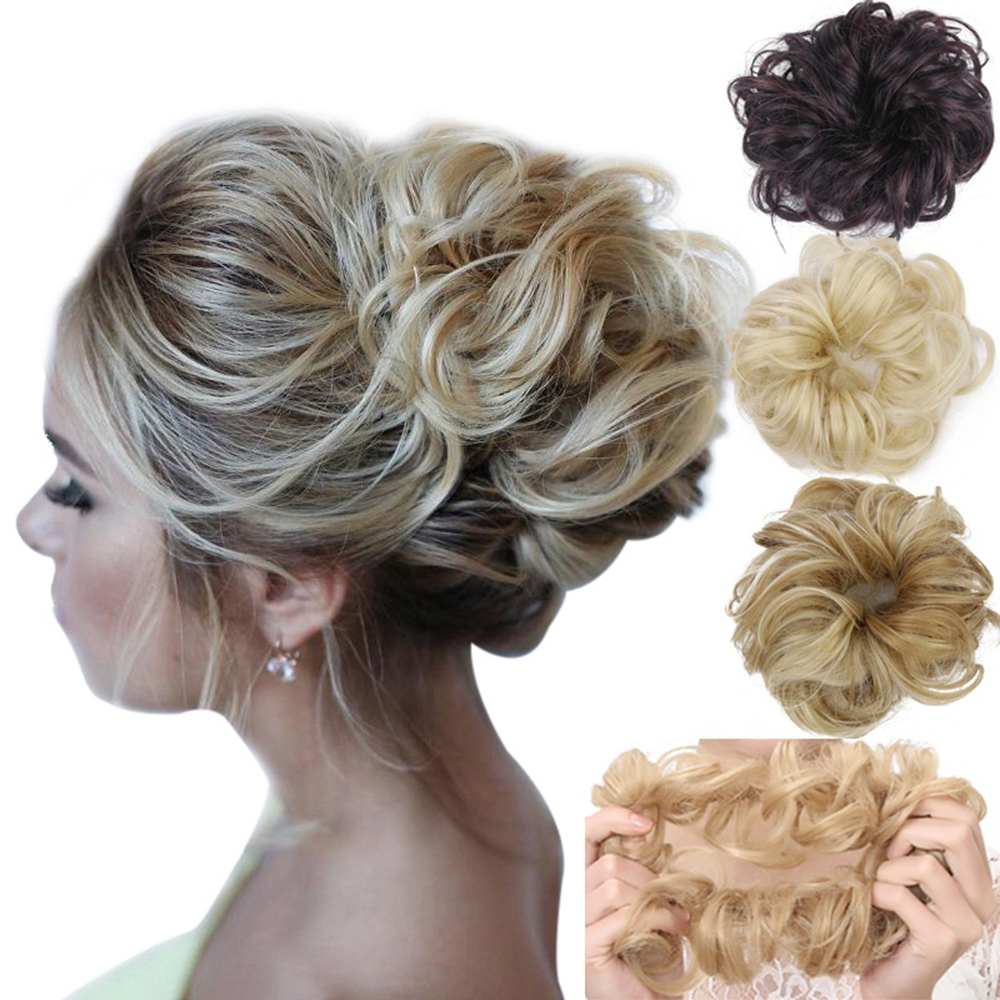 42 Colors New Wig Elastic Hair Bands Scrunchies Synthetic Fiber Hair Ring Rubber Bands Fashion Women Hair Accessories