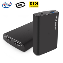 EZCAP 266 1080P 60FPS USB 3,0 Zu HD Video Game Capture Karte Rekord Box Mit MIC IN Unterstützung Live broadcast Streaming Für PS4