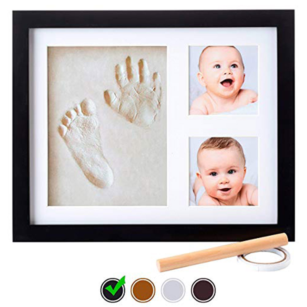 Baby Handprint Kit Baby Picture Frame, Baby Footprint Kit, Perfect For Baby Boy ,Baby Girl Gifts, Newborn Baby Keepsake Frames