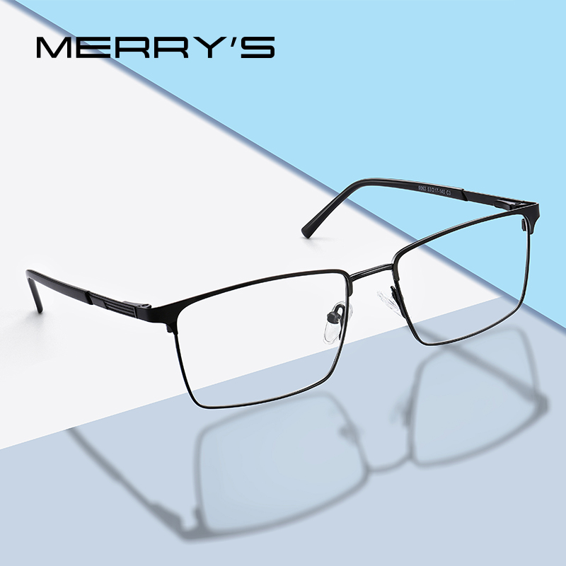 MERRYS DESIGN Men Fashion Alloy Optics Glasses Frames Male Square Ultralight Myopia Prescription Glasses S2163