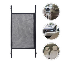 1 Pc Car Ceiling Storage Net Pocket Car Fishing Rods Storage Mesh (Black)