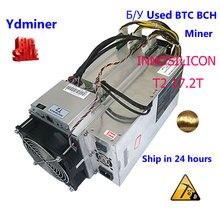 Usado innosilicon t2 17.5 btc bch SHA 256 mineiro bitcon mineiro mineiro mineração fazenda asik melhor do que antminer s9 s7 whatsminer m3x