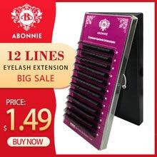 Купить с кэшбэком 1 pc 0.03-0.25mm B/C/D Curl Mink Eyelash Extension Thin and Soft Material 3d 6d Voluming Lashes Tray Lash