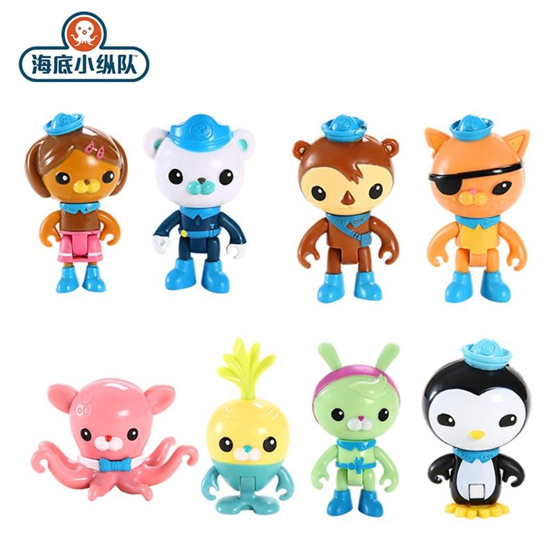 The Octonauts Toy Set Children's Toys Barnacles Kwazii Peso Penguin Shellington Dashi Inkling Anime Action Figure Children's Toy