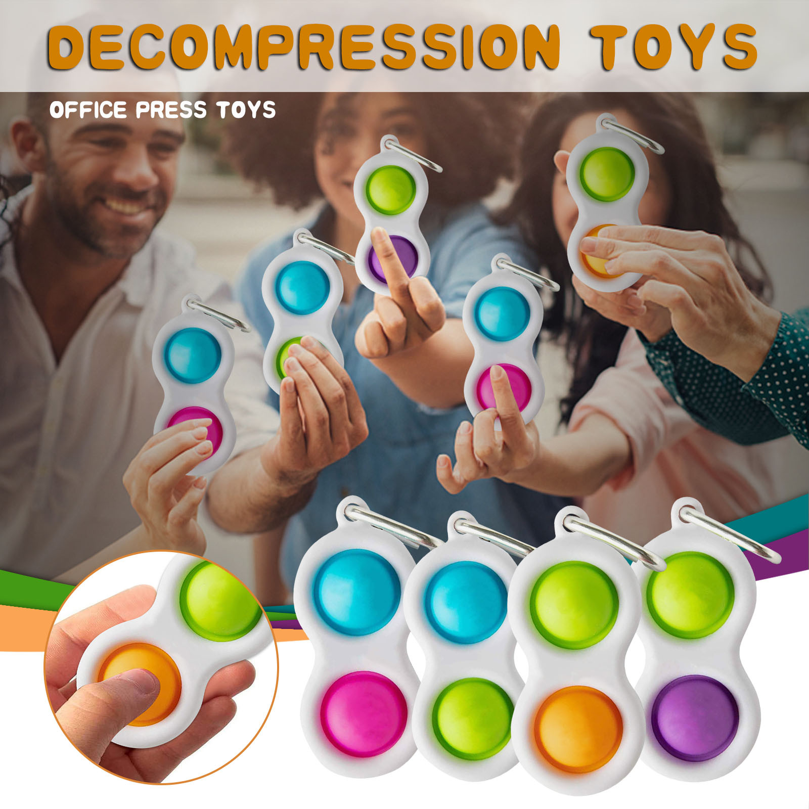 Fidget-Toys Decompression Popit Simple Dimple Pressure-Reliever-Board Gift Creative Adult img4