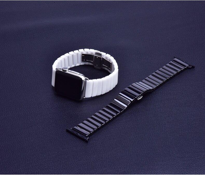 Новый керамический браслет для apple watch band 42 мм/38 мм 40 мм 44 мм ремешок с пряжкой бабочкой для iwatch series 5/4/3/2/1 Ремешки для часов      АлиЭкспресс