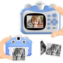 Pickwoo Mini Cámara digital Juguete para niños para niños Cámara de impresión instantánea de fotos para bebés Juguetes para niños Regalo de cumpleaños Regalo para niñas Niños Fotografía Grabadora de video portátil