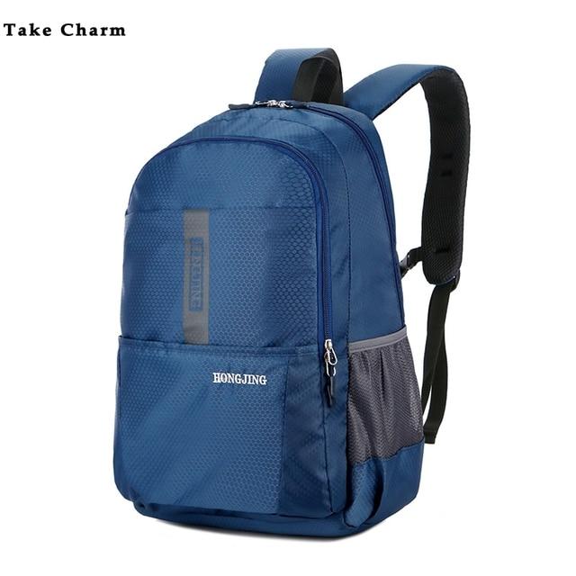 New Nylon Waterproof Lightweight Mens Backpack Casual Large Capacity Women Bag Travel Backpack Sport Bag