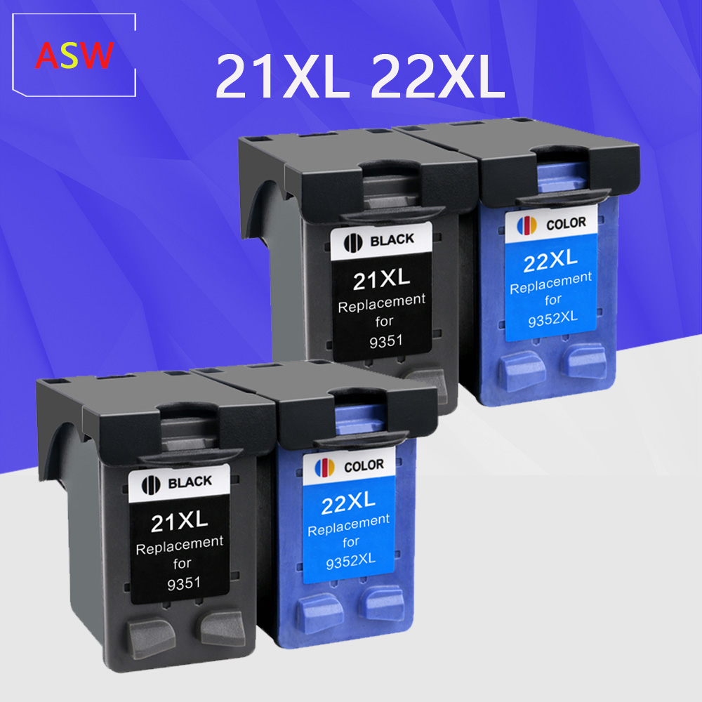 ASW Compatible <font><b>21</b></font> <font><b>22</b></font> XL Ink <font><b>Cartridge</b></font> Replacement for <font><b>HP</b></font> <font><b>21</b></font> <font><b>22</b></font> for HP21 for HP22 21XL 22XL Deskjet F2180 F2280 F4180 F380 380 image