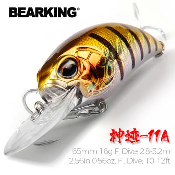 BearKing 65mm 16g gorący model A + przynęta wędkarska nowa korba 5 kolor do wyboru nurkowanie 10-12ft 2 8-3 2m wędkarski twarda przynęta tanie i dobre opinie Morze łodzi rybackich Ocean Rock Fshing Ocean beach fishing LAKE Zbiornik staw Rzeka Stream CN (pochodzenie) LURE BK-SI-O60