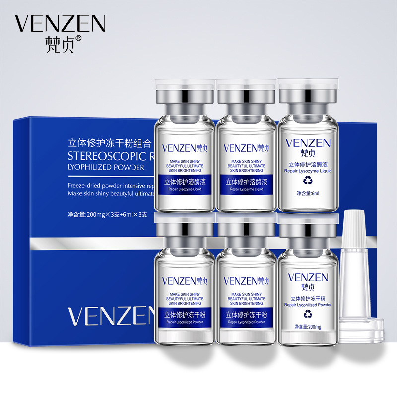 Venzen Repairing Face Serum Shrink Pores Anti Aging Lifting Firming Treatment Repair Pore Facial Essence Skin Care Moisturizing