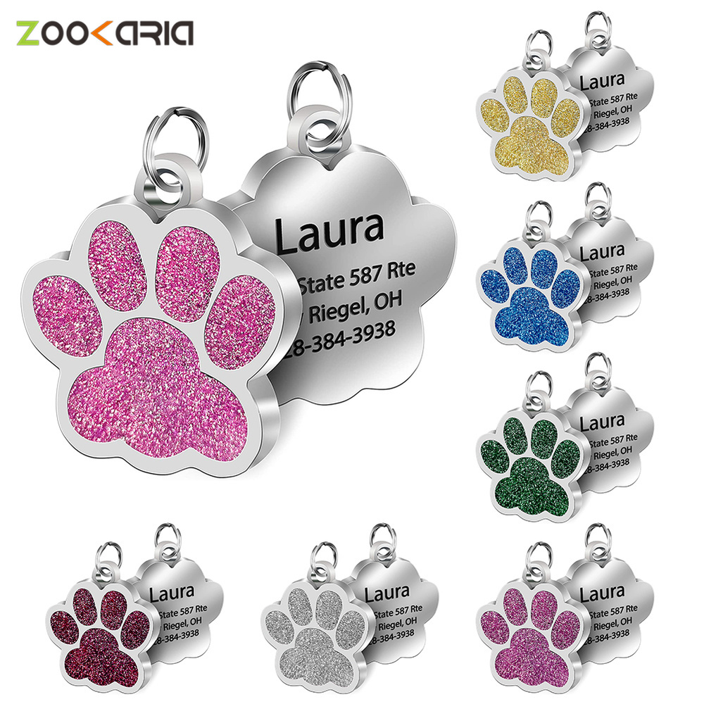 Personalized Pet ID Tags Engraved Pet Name Number Address Cat Dog Collar Pet Pendant Puppy Cat Necklace Charm Collar Accessories|ID Tags| - AliExpress