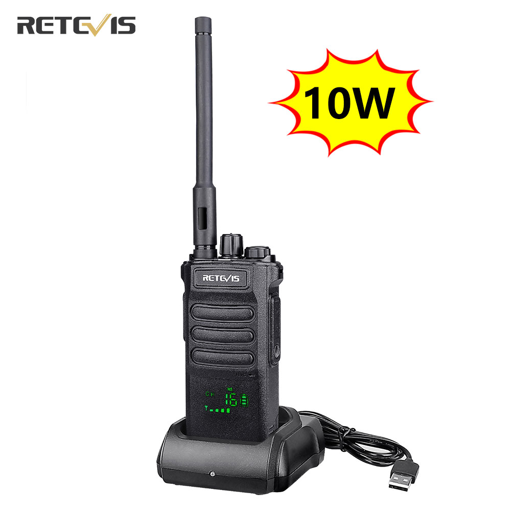 10W Retevis Walkie Talkie Long Range RT86 Walkie-talkies 1 2 pcs Portable Radio For Hunting Powerful walkie-talkie Two-way radio