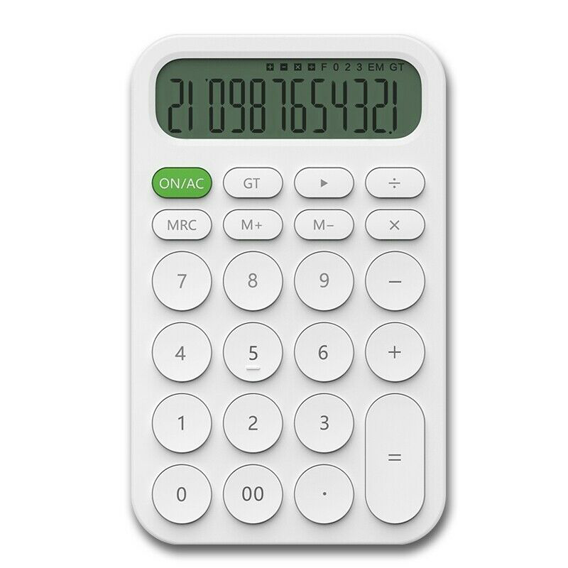 12 Digit Electronic Calculator With Simple Design Mini Led Display For Xiaomi Miiiw