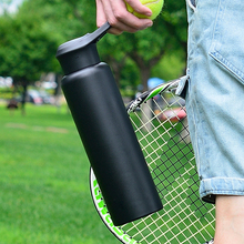 750ML Double Wall 304 Stainless Steel Sport Vacuum Flasks Thermos Cup Coffee Tea Milk Hot Water Travel Mug Cycling Thermo Bottle free custom 2019 new hot sale beautiful pearl shape cup vacuum flasks 304 stainless steel thermos cup 360ml water bottle gift