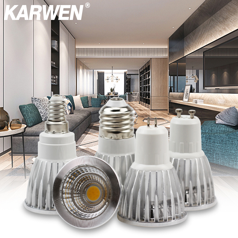 KARWEN COB LED Lamp Cup GU10 MR16 E27 E14 Lampada Led 5w 7w Bombillas Led Light Bulb AC 220v For Home Decoration Ampoule
